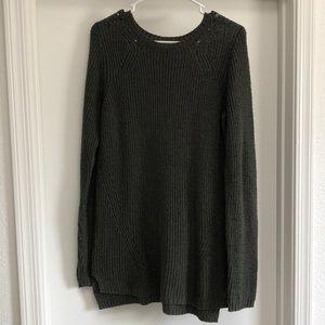 Long Green Sweater